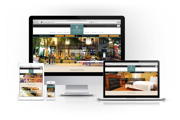 Hotels Nouvelle France Site Internet Graphisme