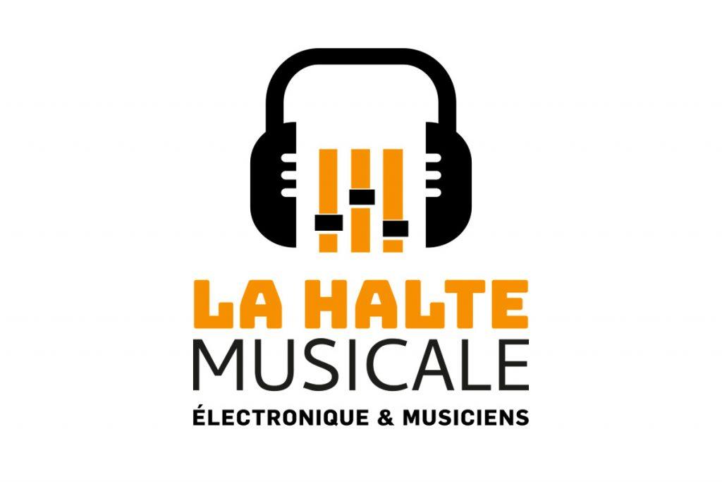 conception de logo la halte musicale